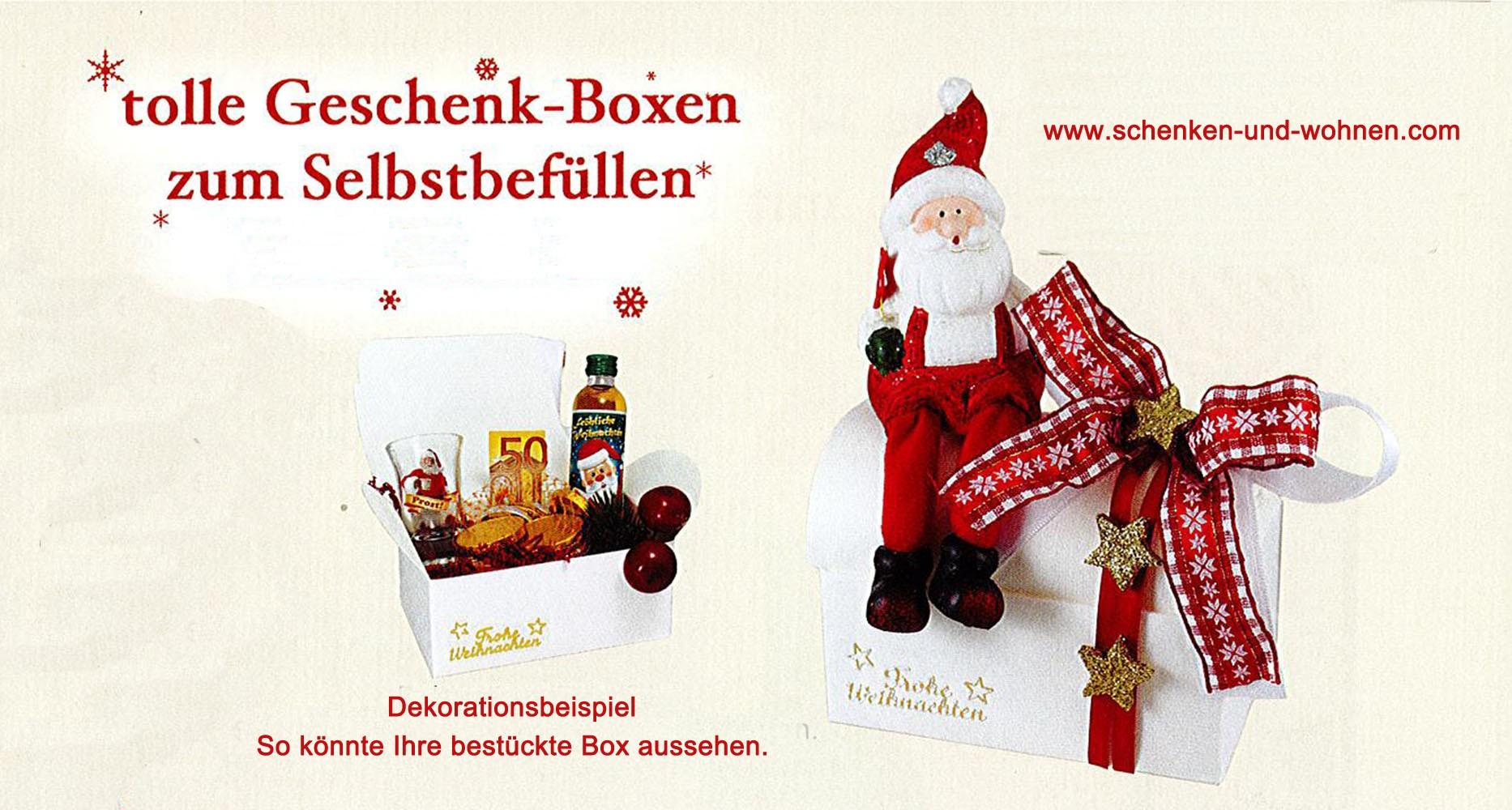 Geschenk-Box zum Selbstbefüllen Weihnachtsmann