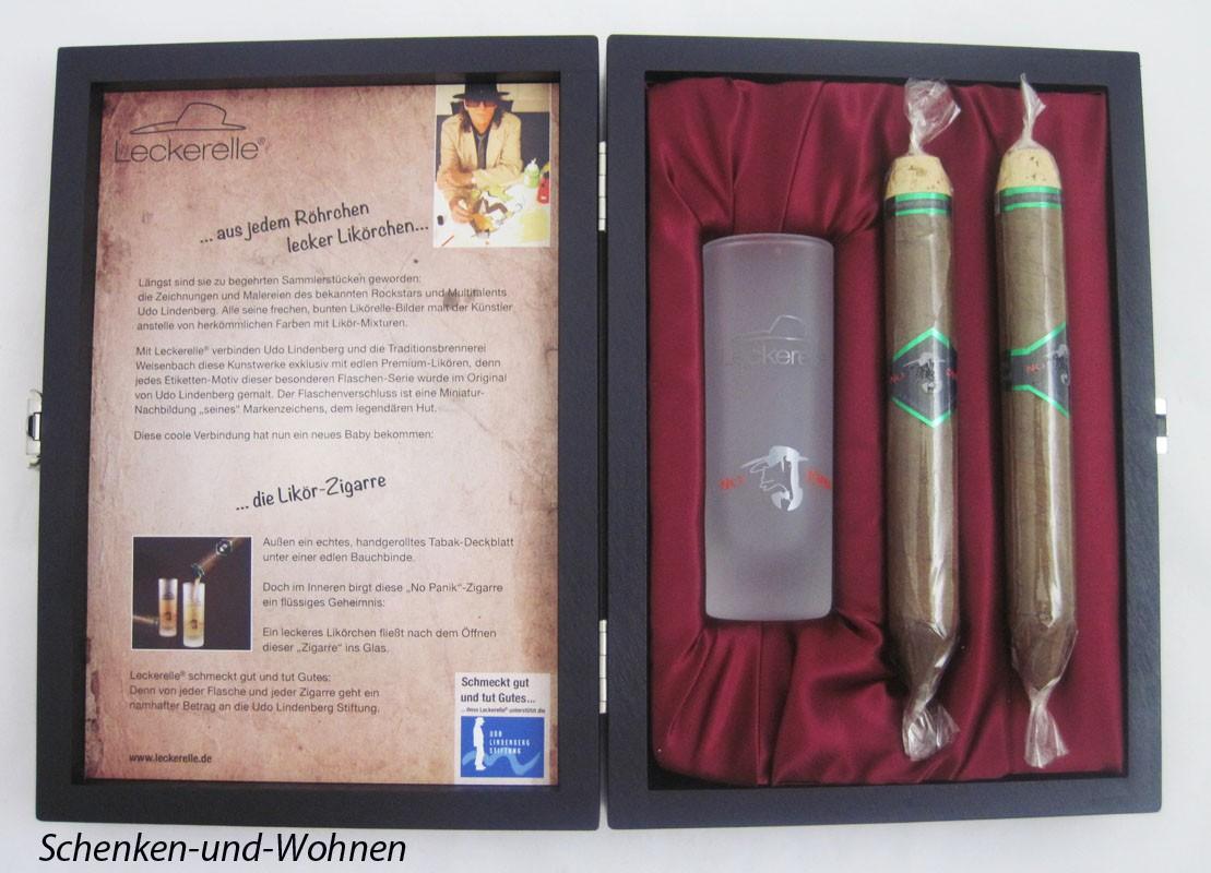 "Leckerelle®s Likör-Zigarren - Geschenk-Box ""No Panik"" 2 x 20 ml Eierlikör"