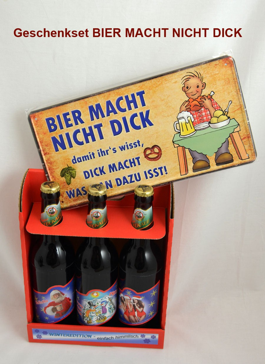 "Geschenk-Set ""Bier macht nicht dick"""