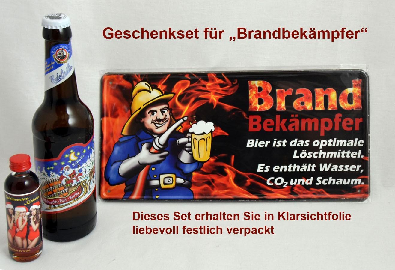 """Geschenk-Set für """"Brandbekämpfer"""""""