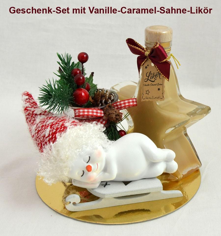 Geschenk-Set mit Vanille-Caramel-Sahne-Likör