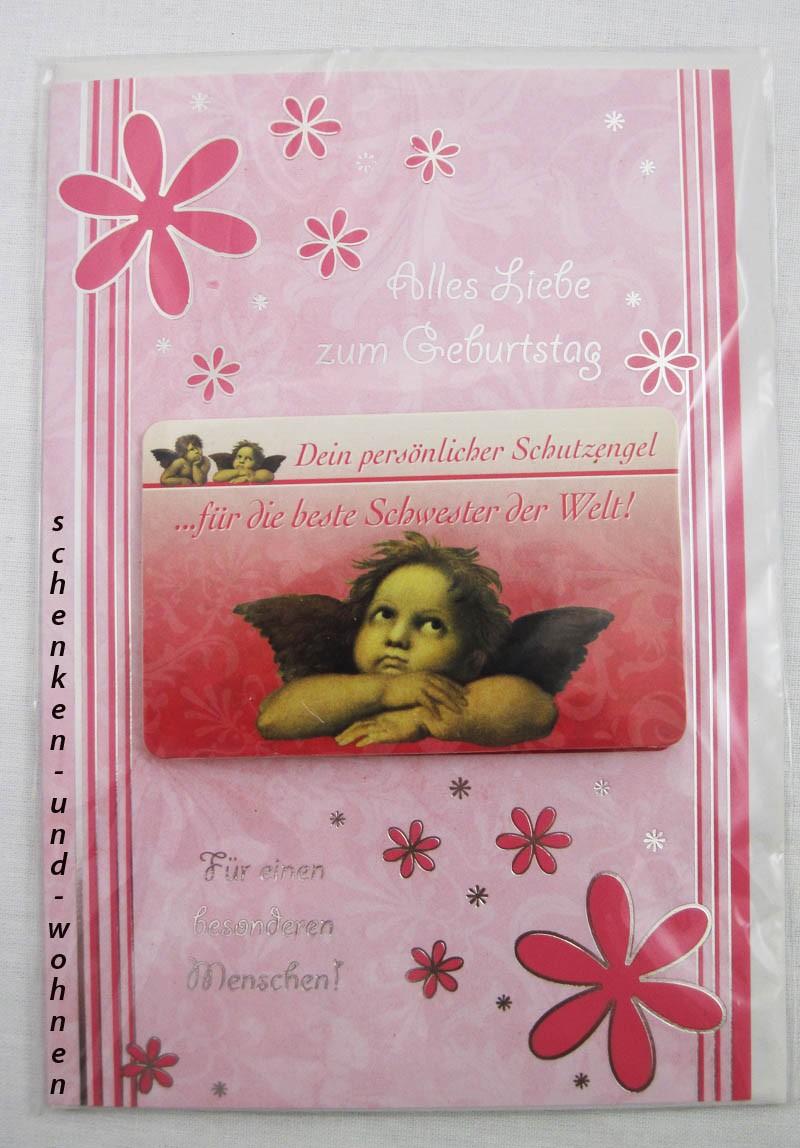 Geburtstagskarte Glückwunschkarte mit Schutzengelmotiv 51-4407