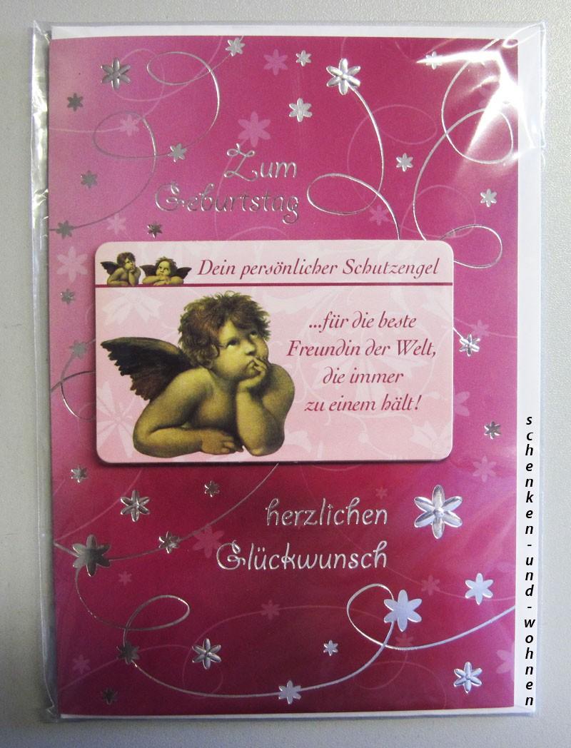 Geburtstagskarte Glückwunschkarte mit Schutzengel 51-4417