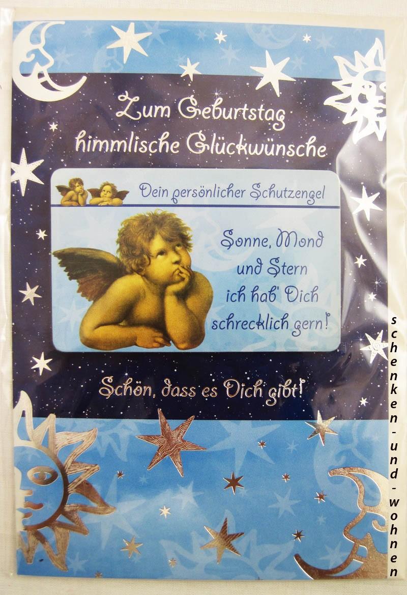 Geburtstagskarte Glückwunschkarte mit Schutzengelmotiv 51-4420