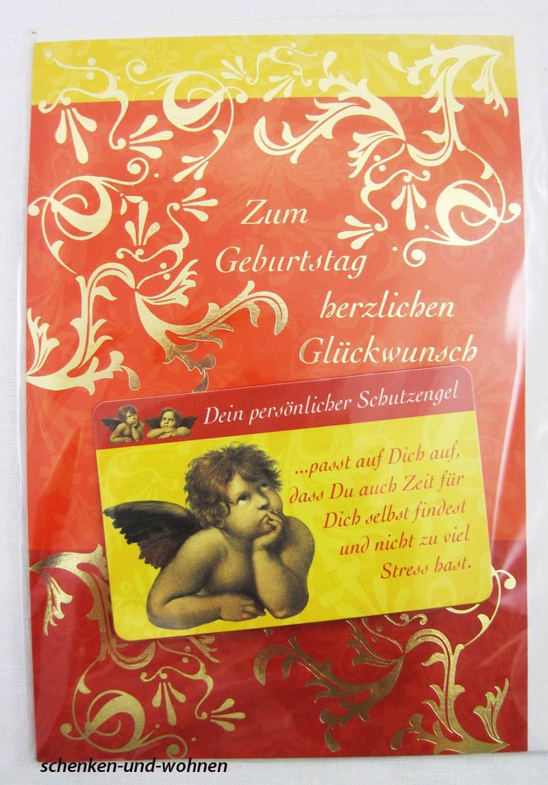 Geburtstagskarte Glückwunschkarte mit Schutzengelmotiv 51-4421