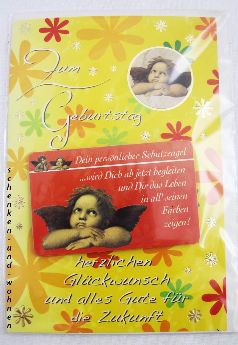 Geburtstagskarte Glückwunschkarte mit Schutzengelmotiv 51-4428