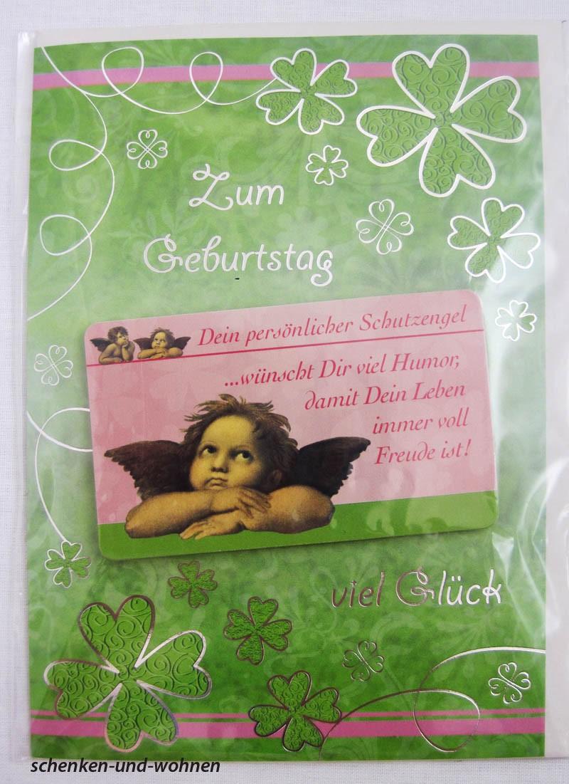 Geburtstagskarte Glückwunschkarte mit Schutzengelmotiv 51-4443