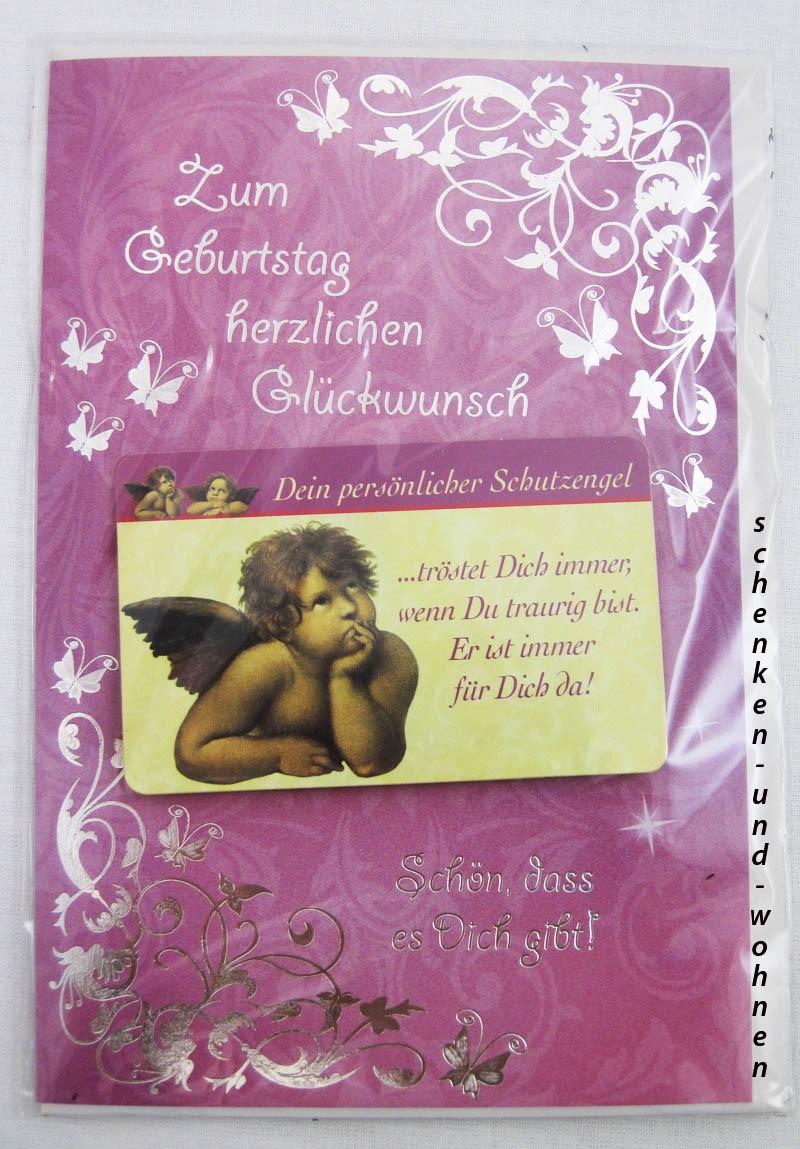 Geburtstagskarte Glückwunschkarte mit Schutzengelmotiv 51-4452