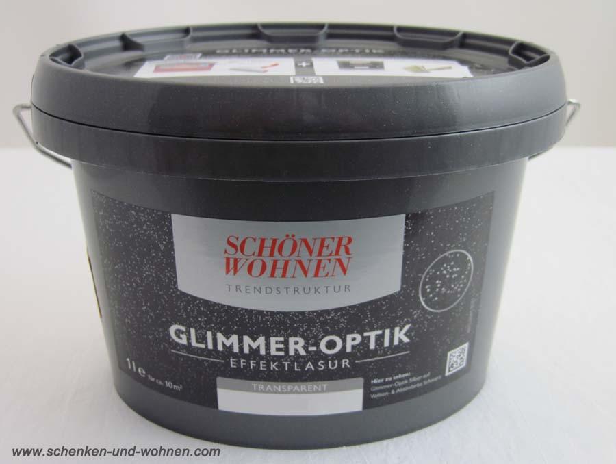 Glimmer-Optik Effektlasur  Schöner Wohnen Opal 1 l