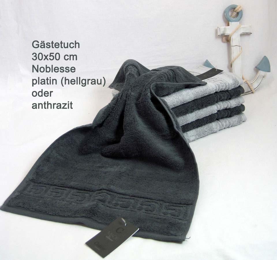 1 Gästehandtuch Noblesse 1001 Fb. 705, ca. 30x50 cm