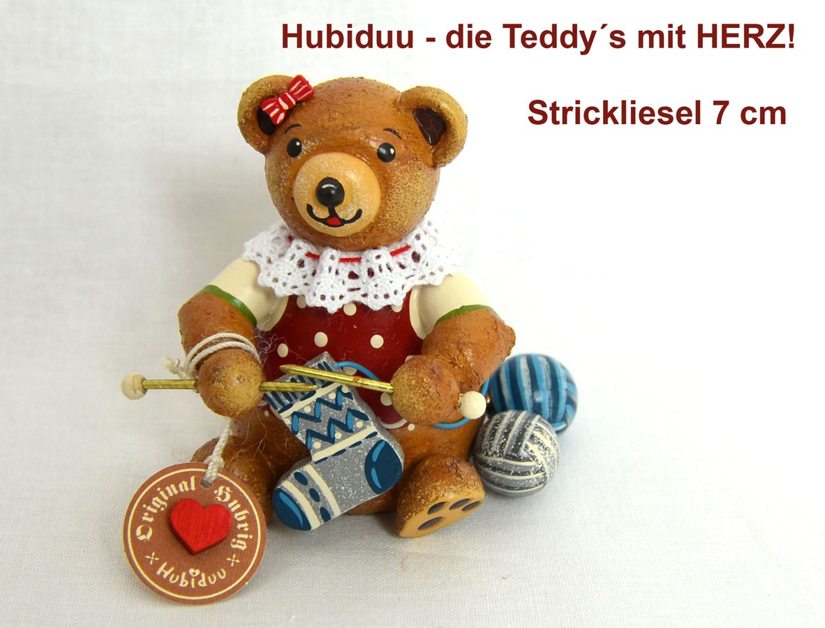 Hubrig Teddy Strickliesel  7 cm Neuheit 2019
