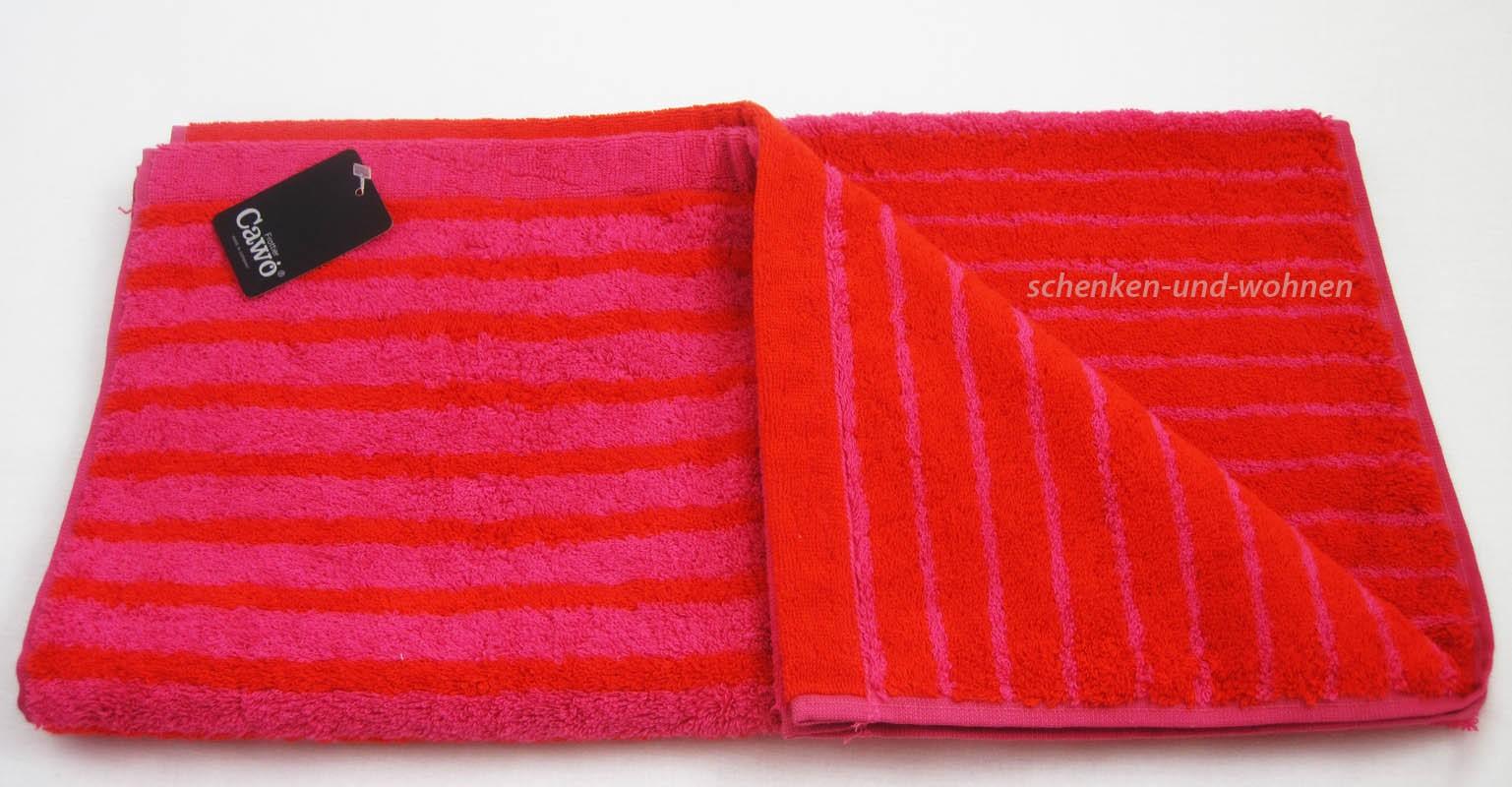Handtuch 7045 mit Wendestreifen Fb. 22 Pink ca. 50 x 100 cm