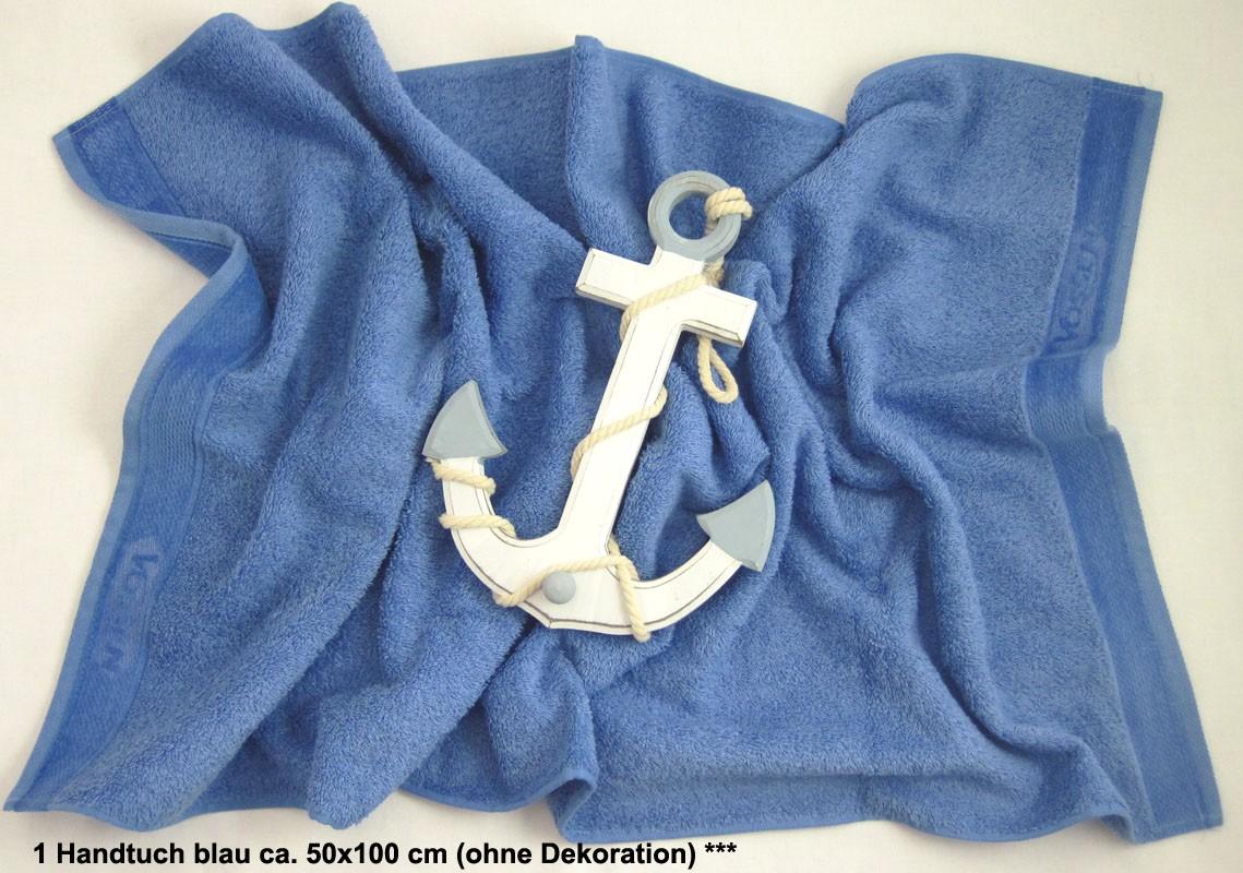 1 Handtuch Cult blau ca. 50x100 cm