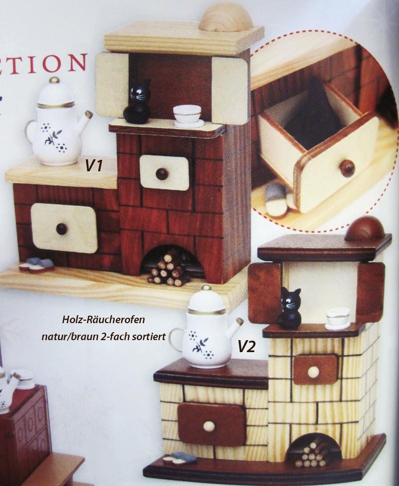 holz r ucherofen mit pantoffeln und katze natur braun. Black Bedroom Furniture Sets. Home Design Ideas