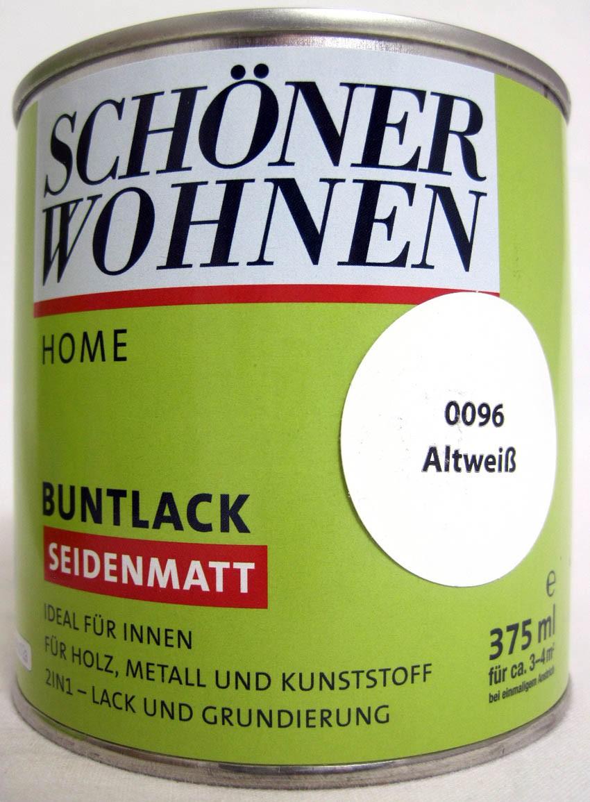 Home Buntlack - Acryllack, seidenmatt, Fb.-Nr.: 0096 Altweiß, 375 ml