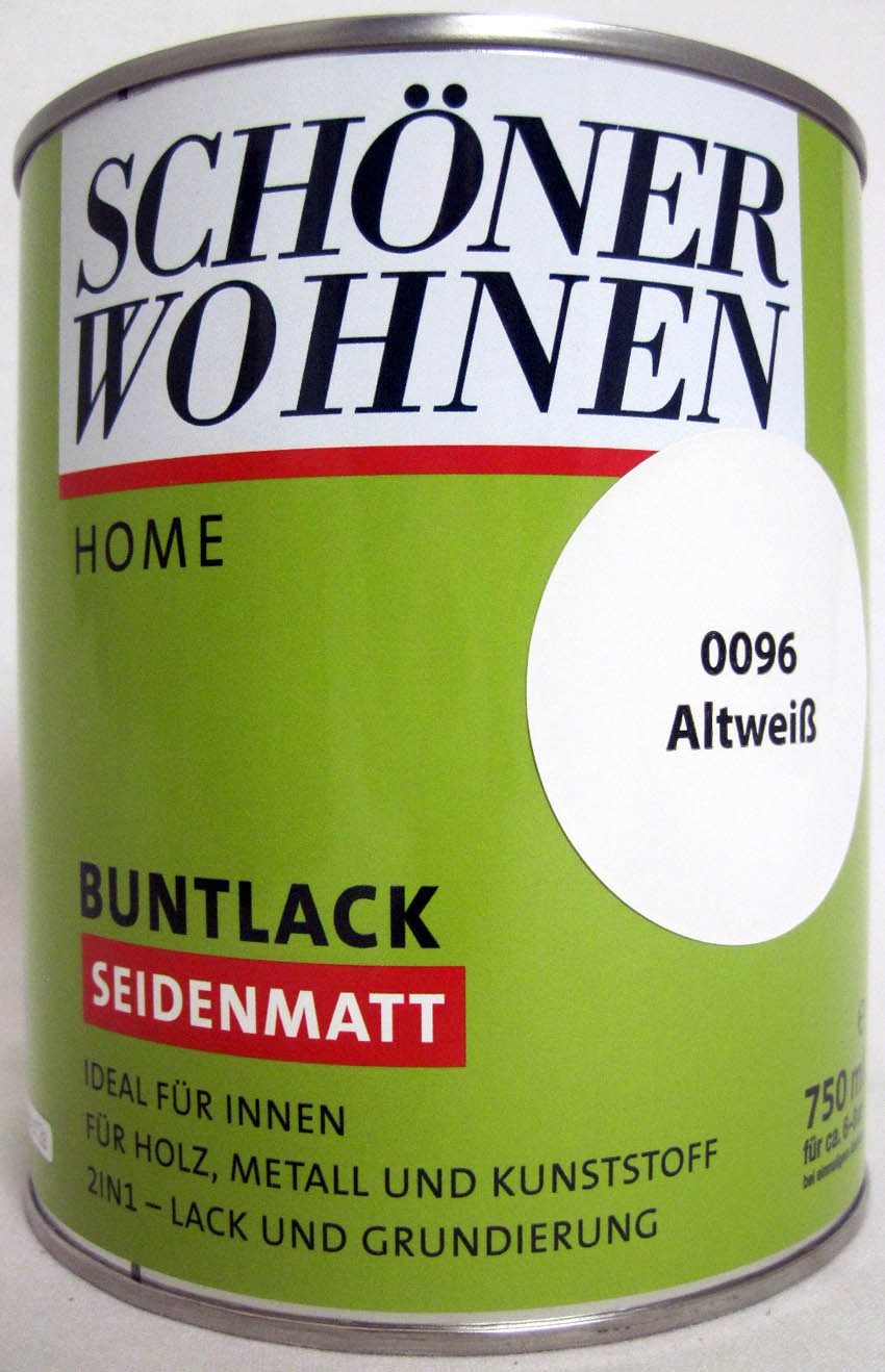 Home Buntlack - Acryllack, seidenmatt, Fb.-Nr.: 0096 Altweiß, 750 ml