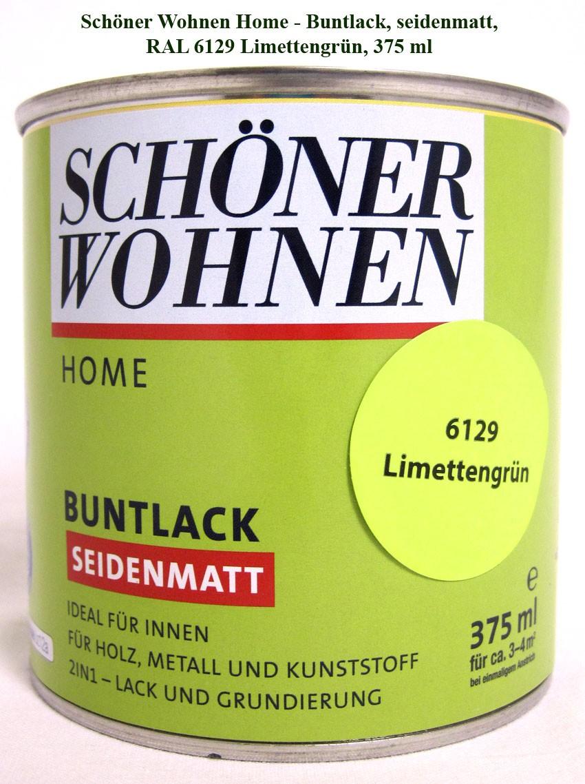 Home Buntlack - Acryllack, seidenmatt, RAL 6129 Limettengrün, 375 ml