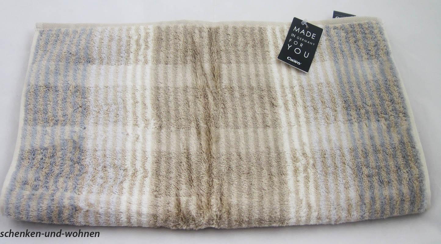 Handtuch Noblesse Cashmere Streifen, Fb. 33 Sand ca.50 x 100 cm