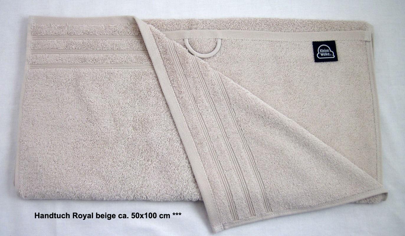 1 Handtuch Royal, sandbeige ca. 50x100 cm