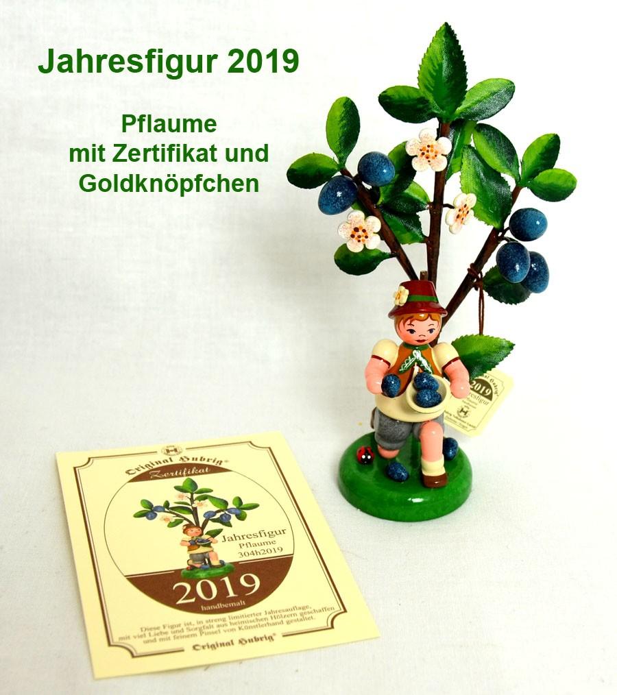 Jahresfigur 2019 Pflaume mit Zertifikat
