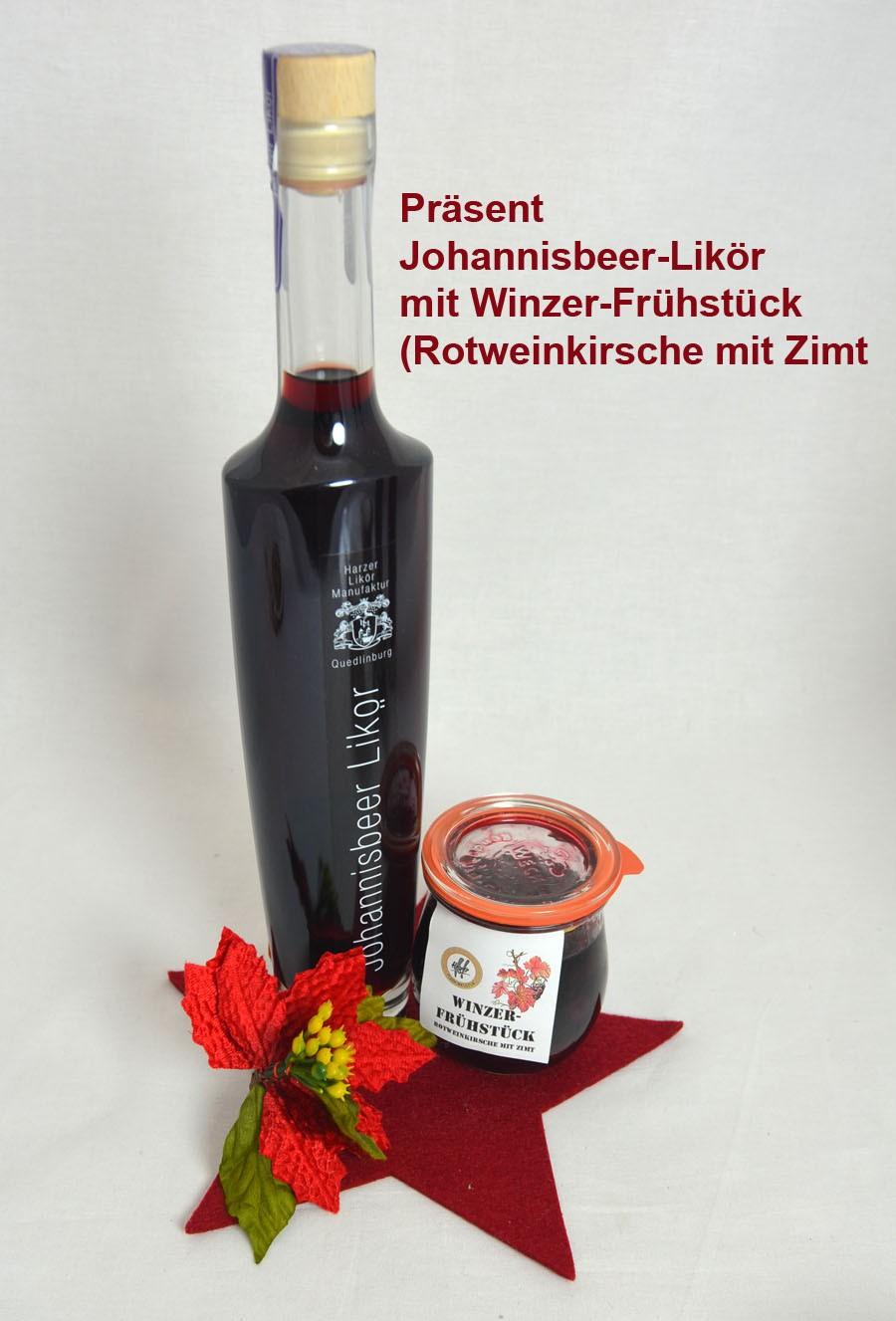 Geschenk-Set Johannisbeer-Likör mit Winzer-Frühstück