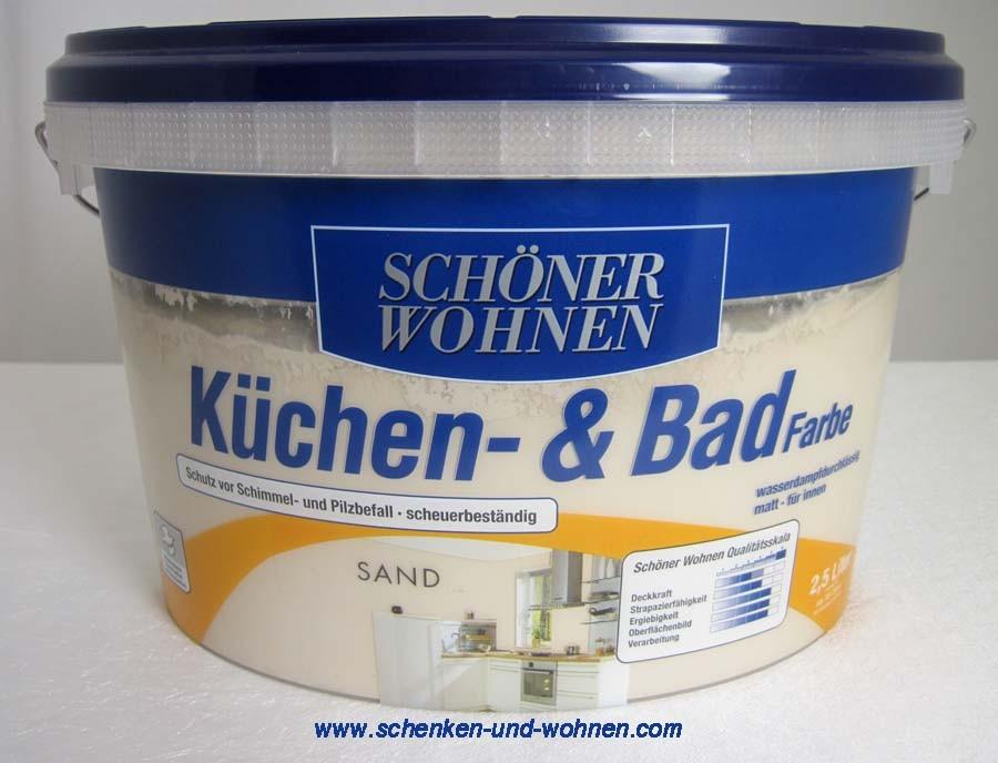 Küchen- und Badfarbe Sand matt 2,5 l Schöner Wohnen