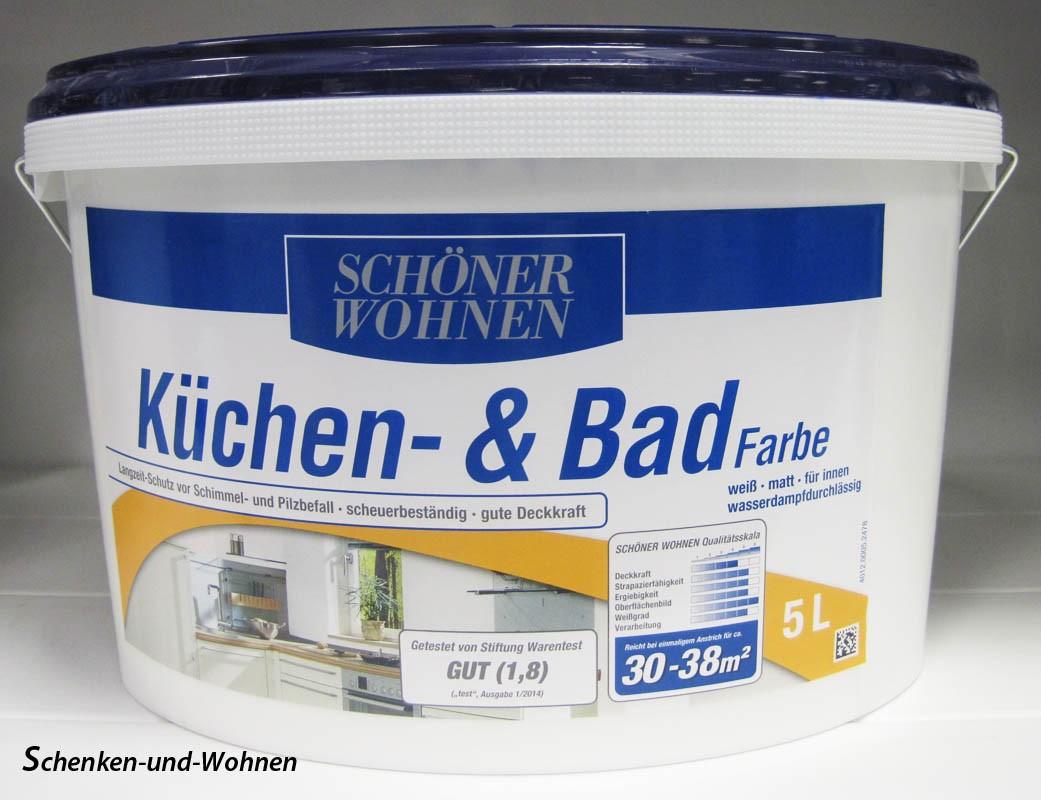 Küchen- und Badfarbe weiß matt 5,0 l Schöner Wohnen
