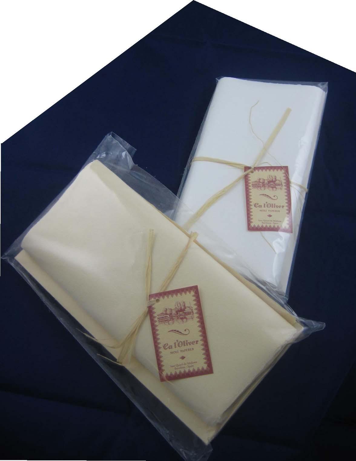 Büttenbriefset 5er, Natural Briefpapier-dunkel champagnerfarben