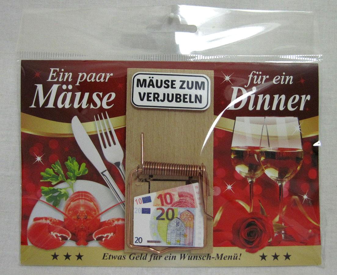 """Karte Mausefalle """" Ein paar Mäuse für ein Dinner"""" bunt ca. 17,0x11,5cm"""