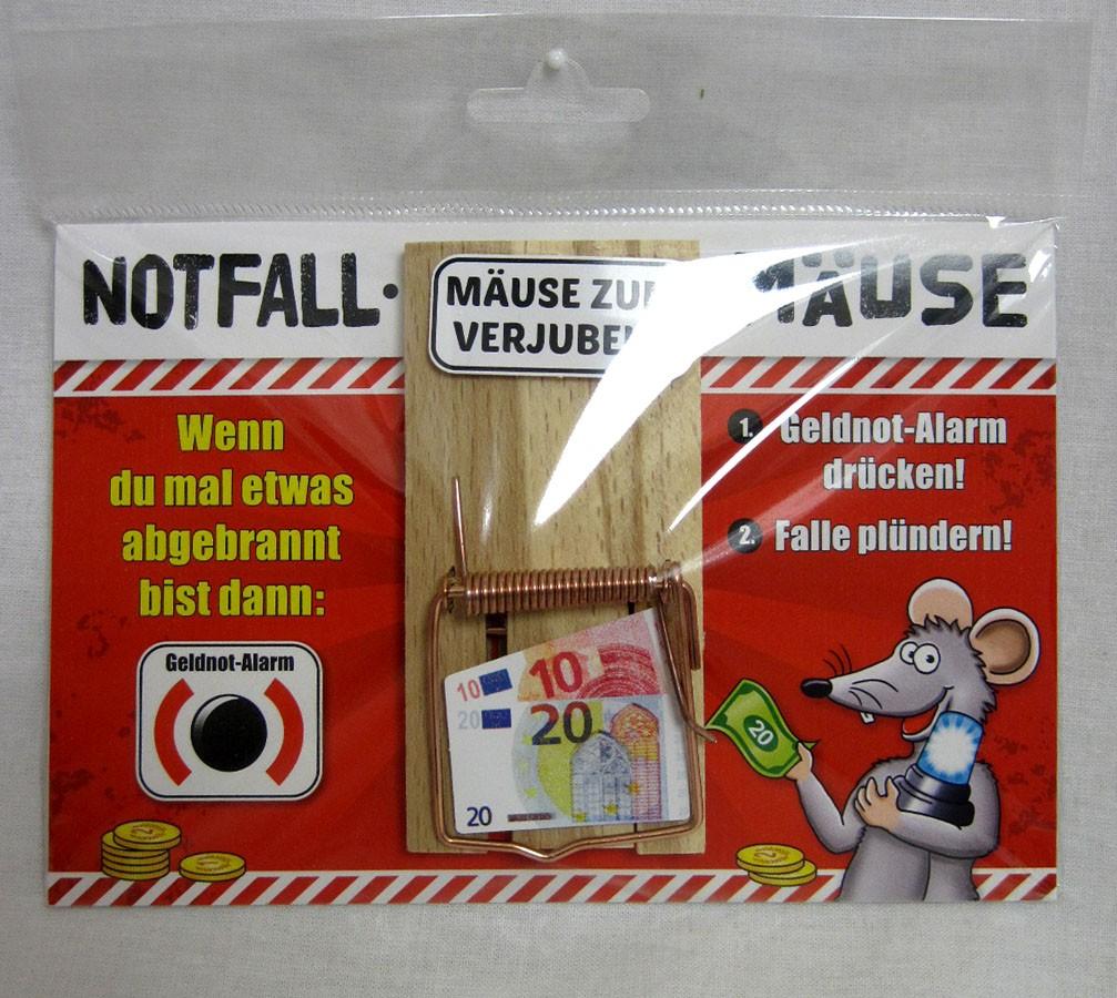 "Karte Mausefalle "" Notfall Mäuse"" bunt ca. 17,0x11,5cm"