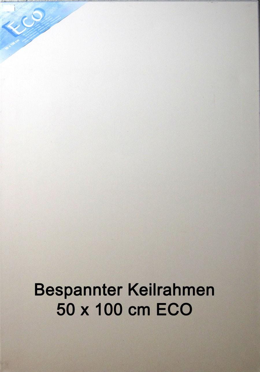 Bespannter Keilrahmen 50 x 100 cm in professioneller Ausführung