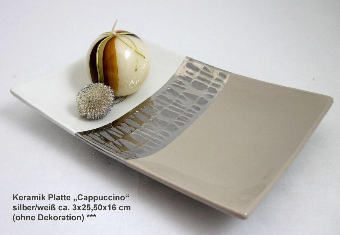 Keramik Platte Cappuccino 3x25,5x16 cm (H/B/T)