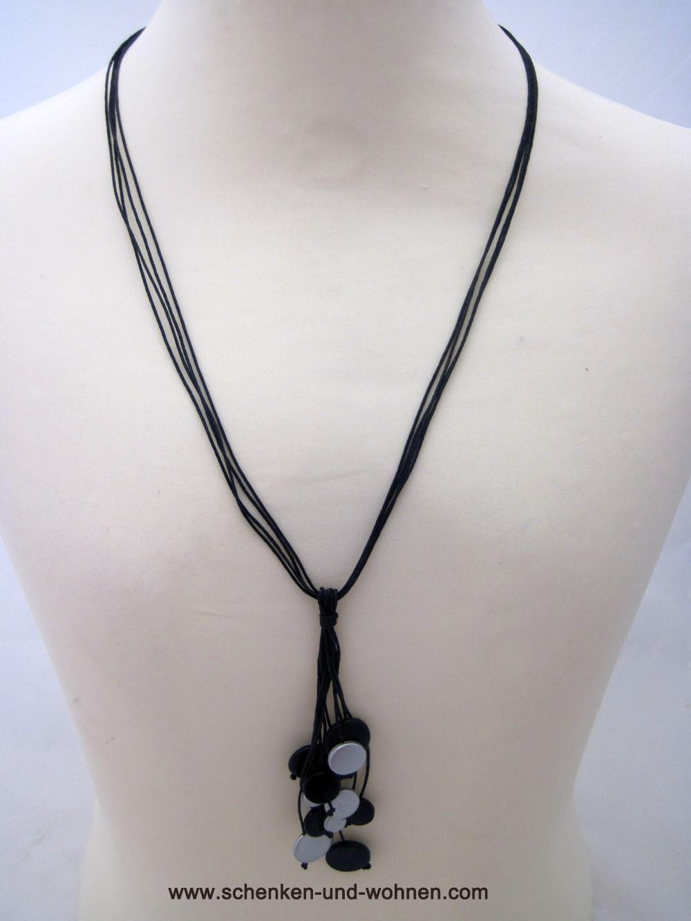 Kette Modeschmuck Länge ca. 46 cm schwarz/silber