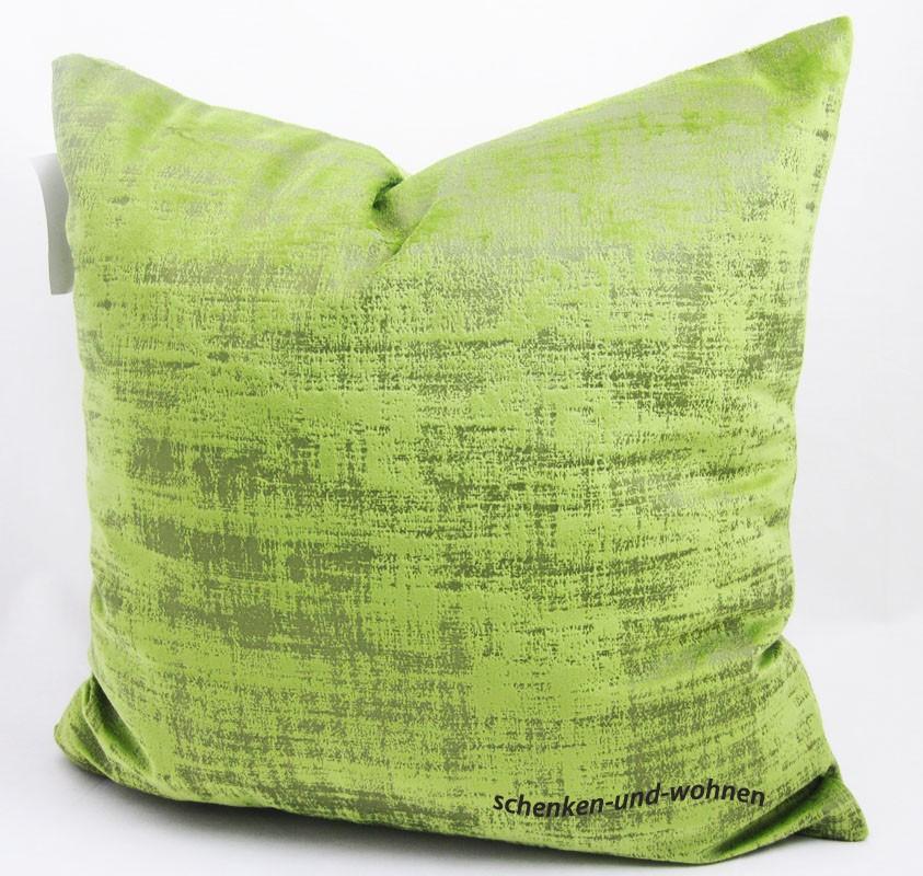 """Kissenhülle """"Shabby"""" Fb. 090 grün ca. 45 x 45cm"""