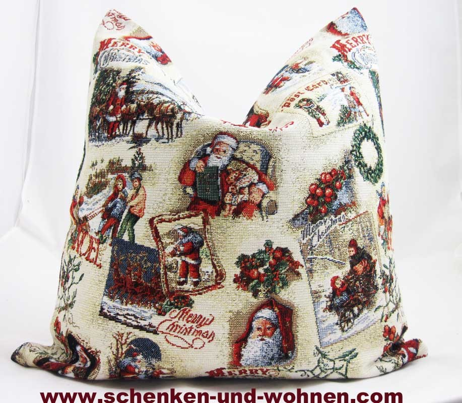 "Kissen o. Füllung ""Wintermärchen"" Gobelin, 45 x 45 cm"