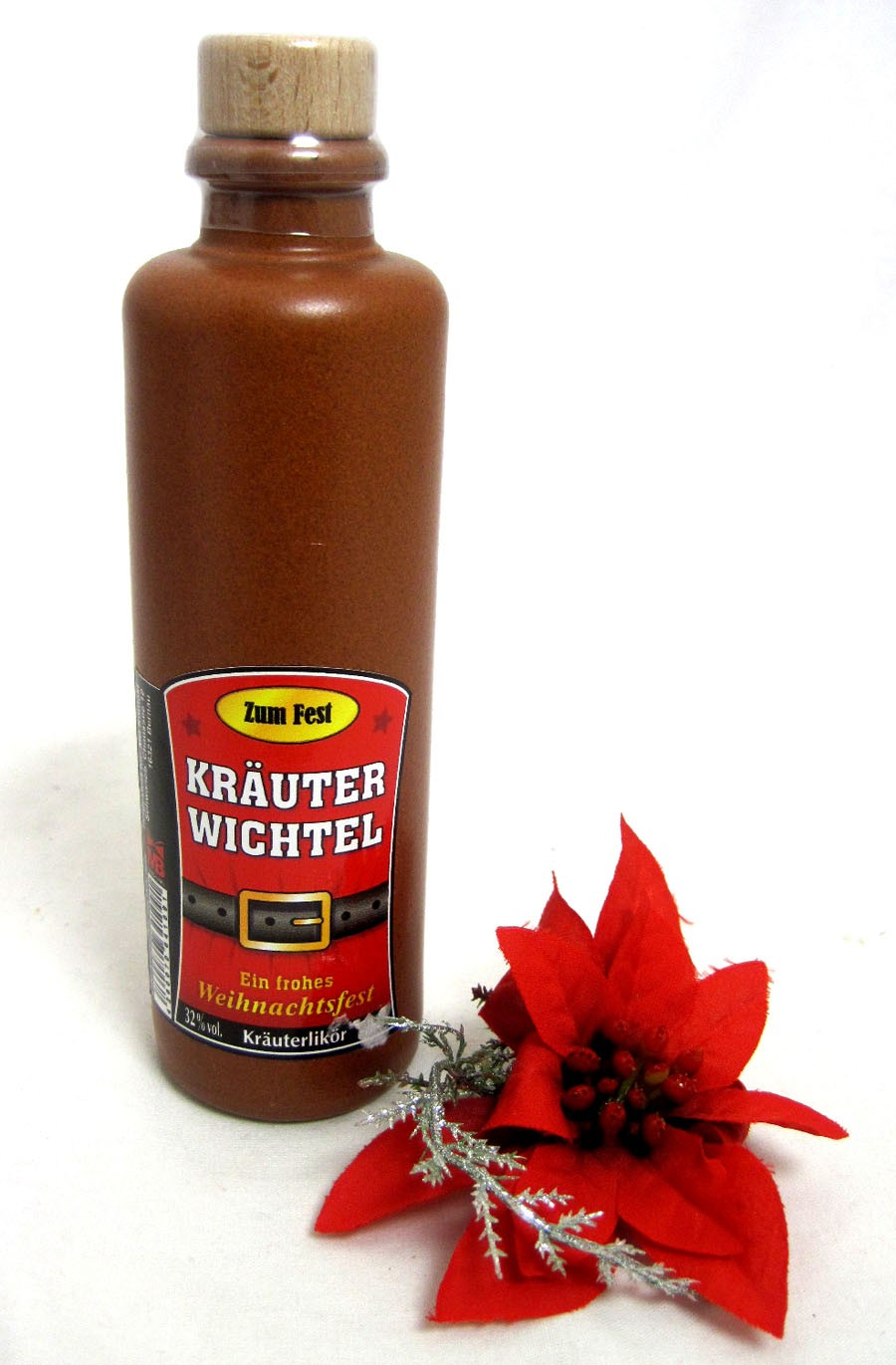"1 Flasche Kräuterlikör in Tonflasche ""Kräuterwichtel"",  0,2l"