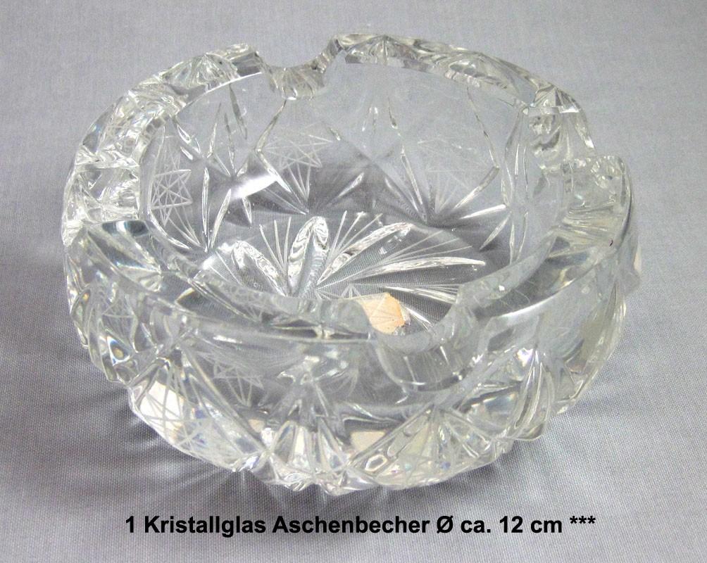 Kristallglas Aschenbecher ca. Ø 12 cm