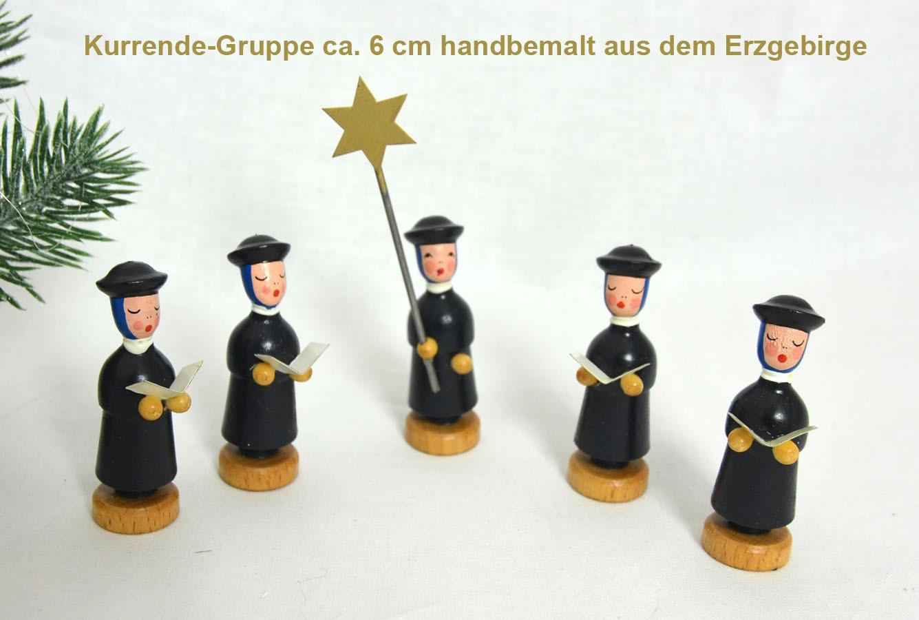 Kurrende Figuren 6 cm Gruppe mit 5 Stück