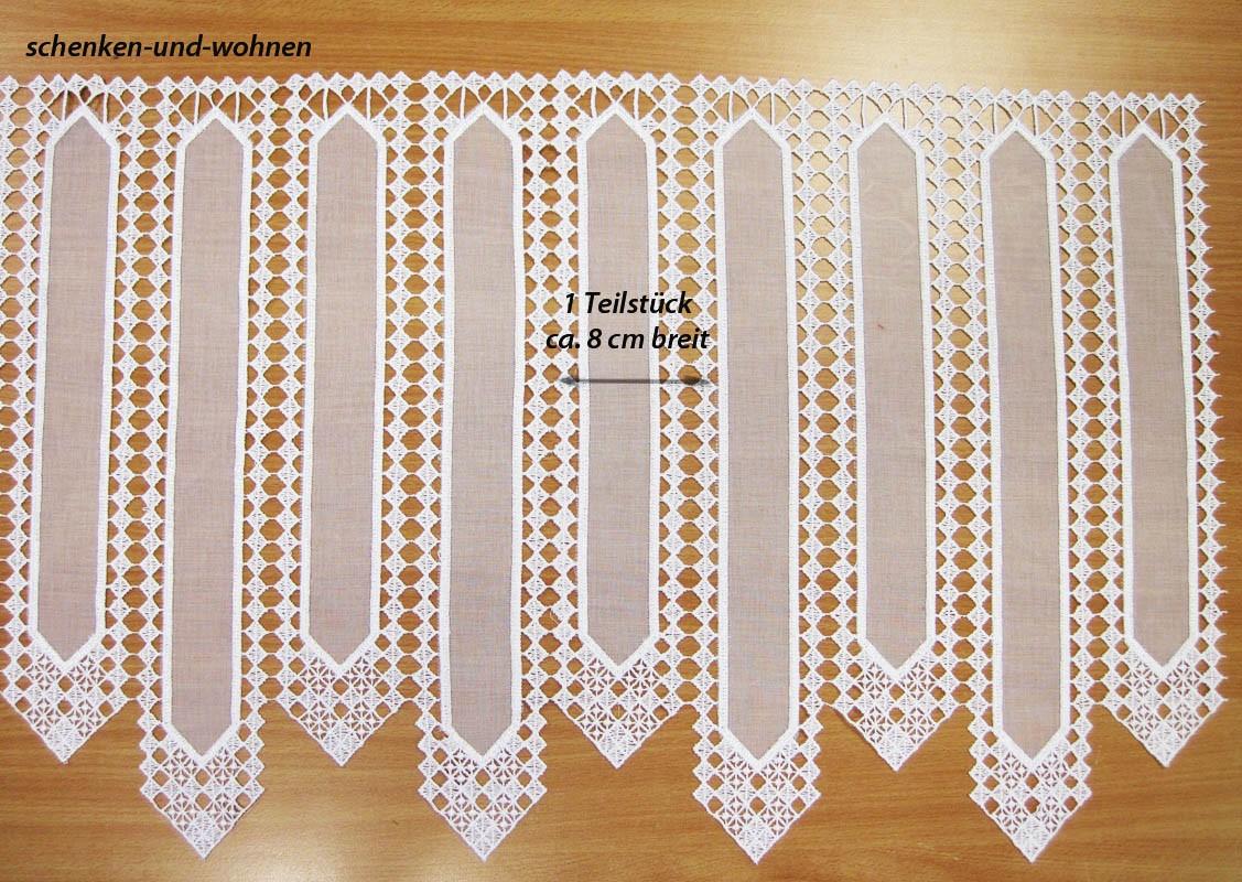 Kurzgardine - Panneaux im Landhausstil weiß, ca. 45 cm hoch