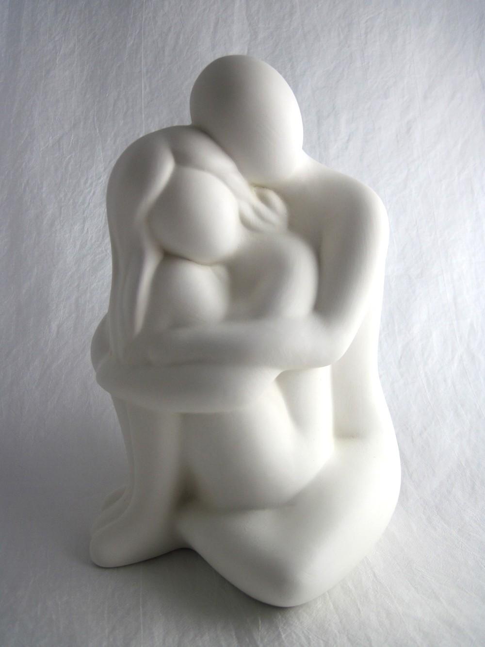 """Skulptur Francis Paar """"Kuschelrunde"""" 25 cm"""