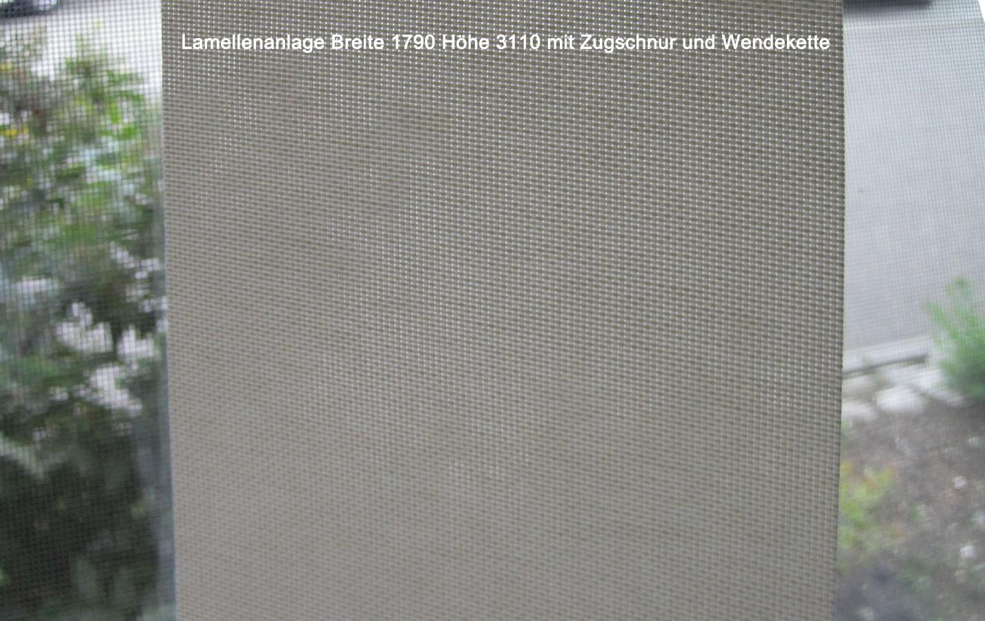Lamellenanlage 1790 x 3110 (BxH) mit Zugschnur und Wendekette