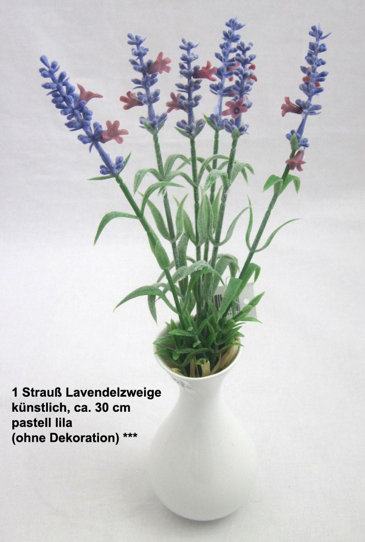 1 Strauß Lavendelzweige, künstlich, pastell lila ca. 30 cm