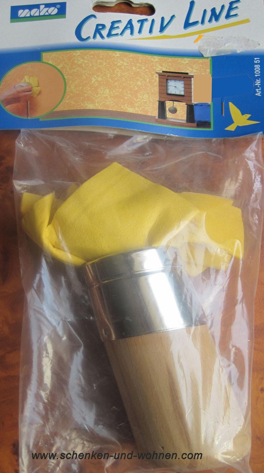 Ledereffektstempel für Kreativ-Technik rund 47 mm