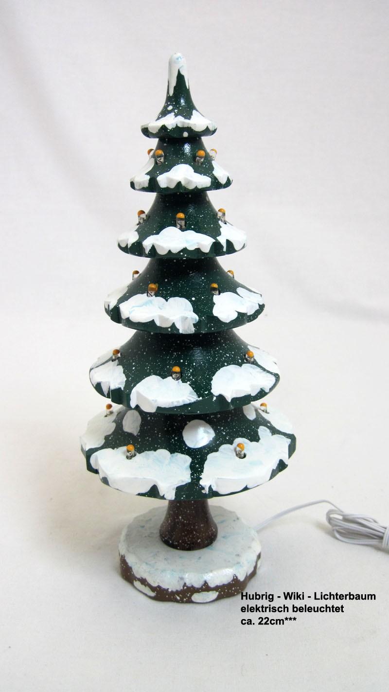 Hubrig - Wiki - Lichterbaum elektrisch beleuchtet ca. 22cm