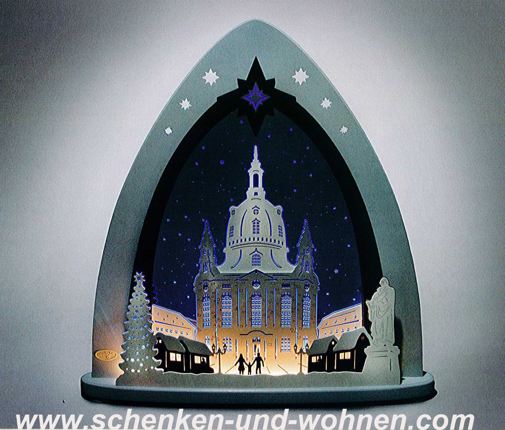 "Lichterspitze LED  ""Dresdner Frauenkirche"" 52 x 53,5 x 9 cm (L/H/T)"