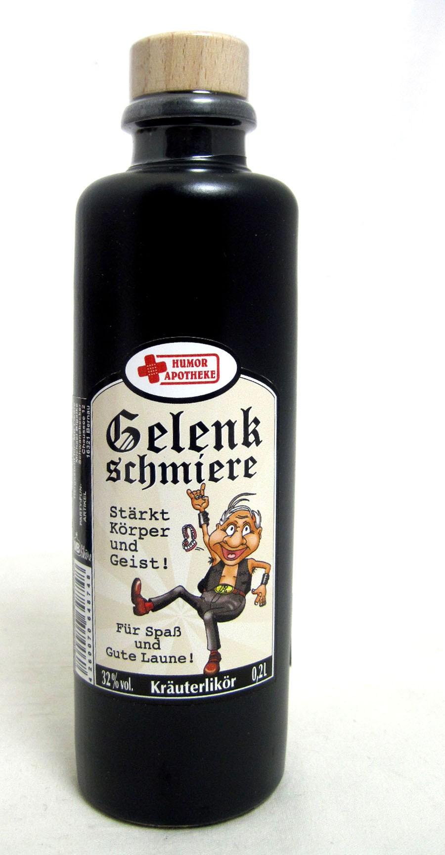 "Kräuterlikör in Tonflasche ""Gelenkschmiere"",  0,2l"