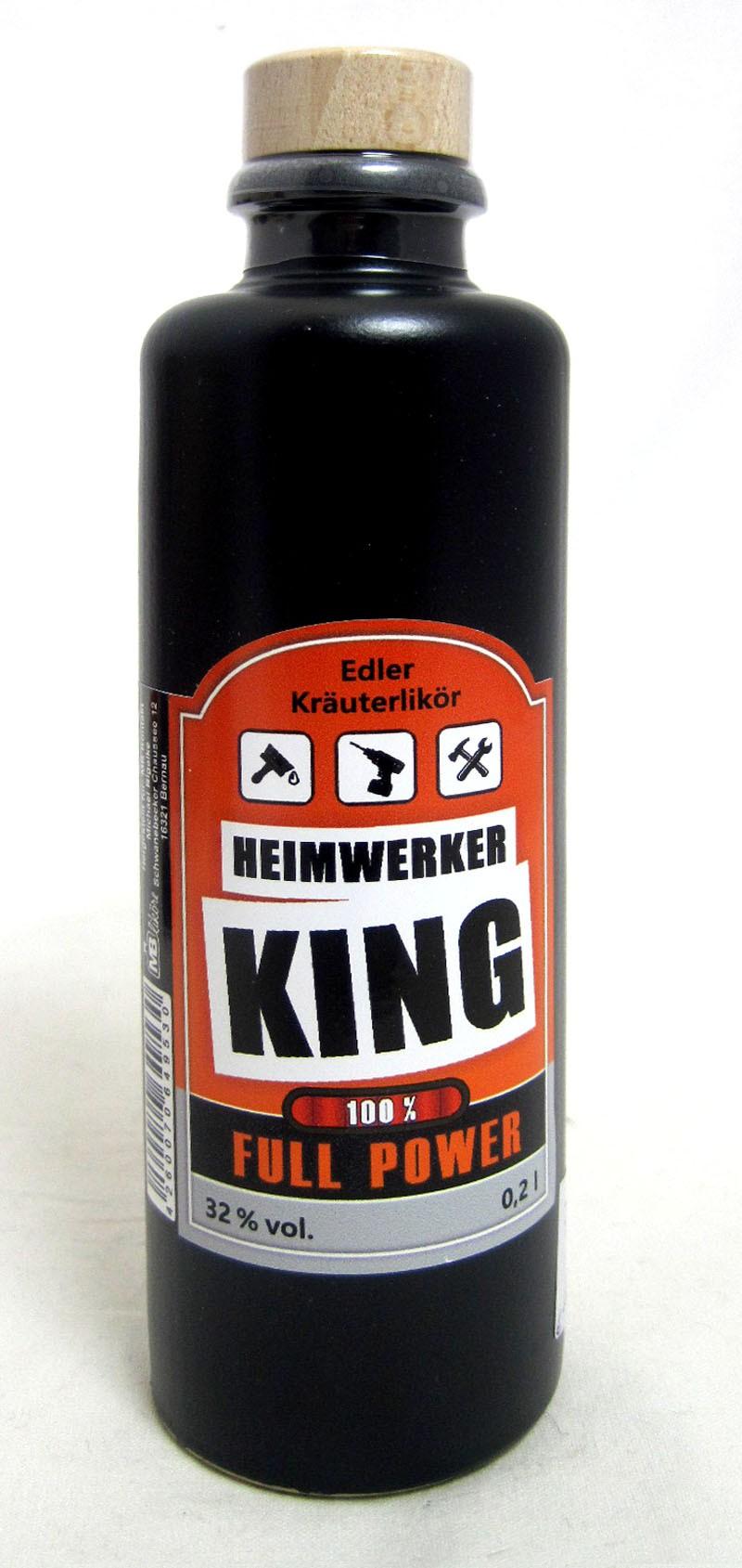 """Kräuterlikör in Tonflasche """"Heimwerker King"""",  0,2l"""