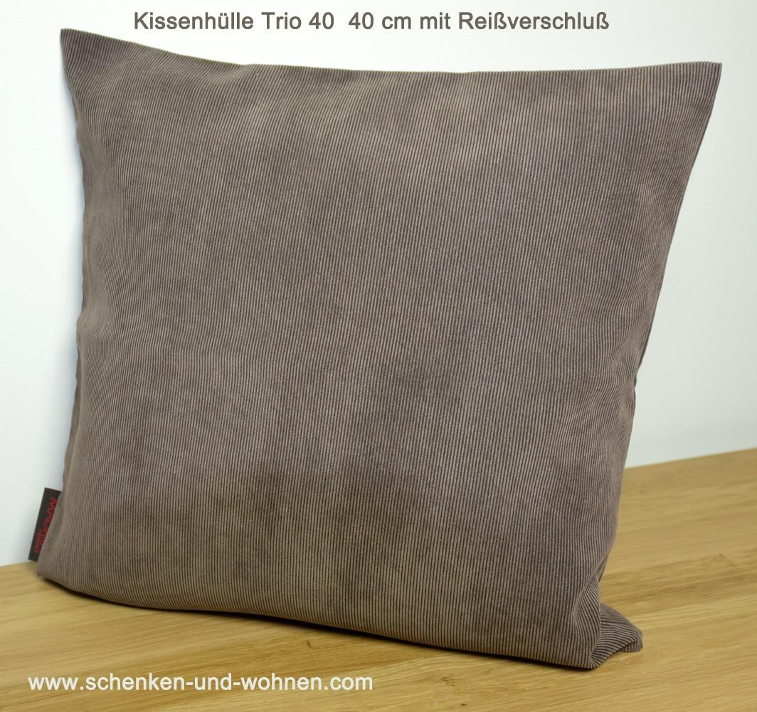 """Kissenhülle """" Trio """" Braun ca. 40x40 cm"""