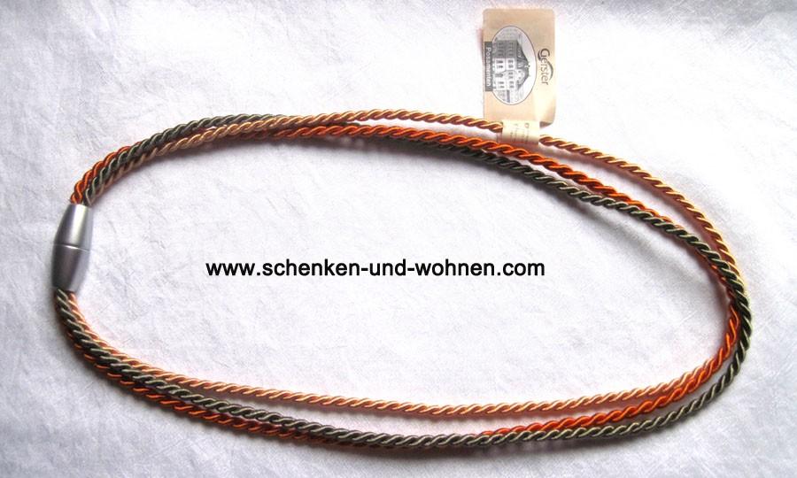 Raffhalter mit Magnetverschluss 64/32 cm orange/apricot/graugrün Fb. 6034