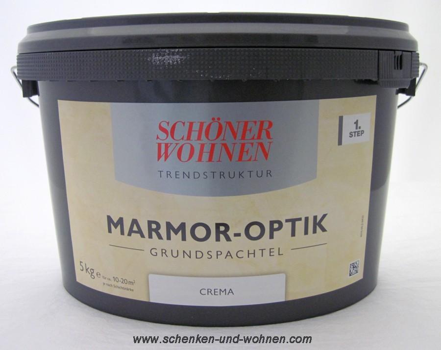 Marmor-Optik Grundspachtel crema 5 kg Schöner Wohnen